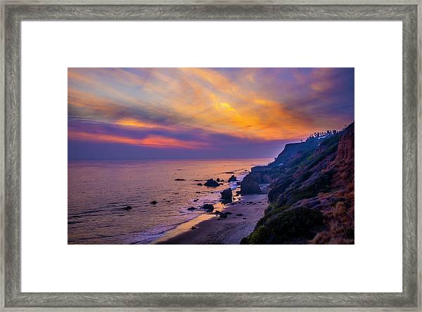 El Matador Sunset Framed Print