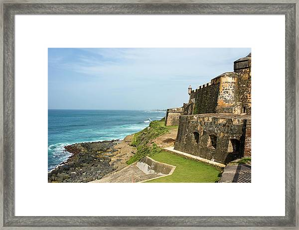 El Morro On The Coast Framed Print