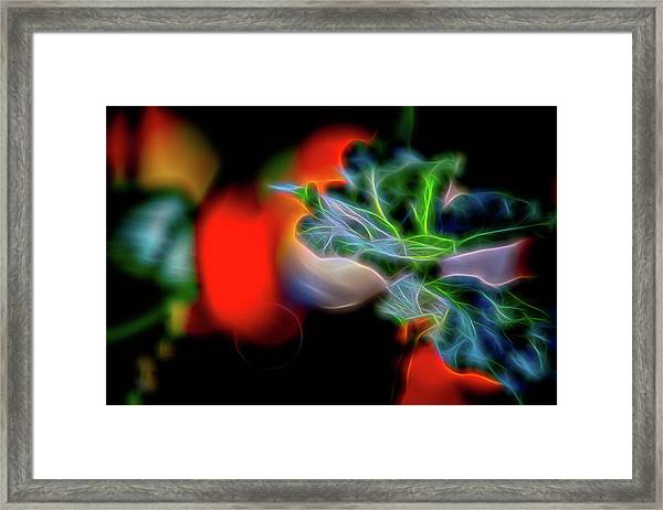 Electric Leaves Framed Print