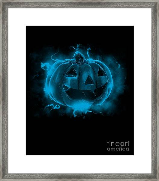 Electric Pumpkin Framed Print