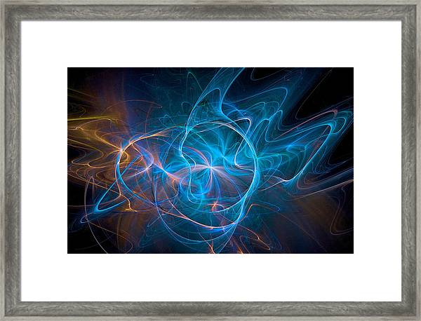 Electric Universe Blue Framed Print