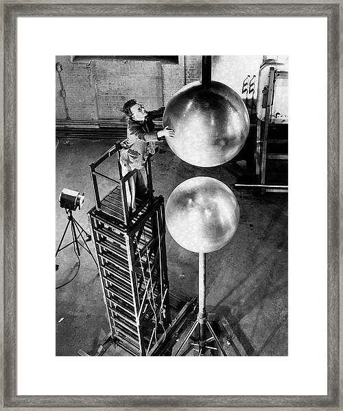 Electrical Research Framed Print
