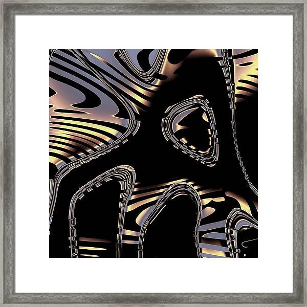 Elegant Black Fractal 2 Framed Print