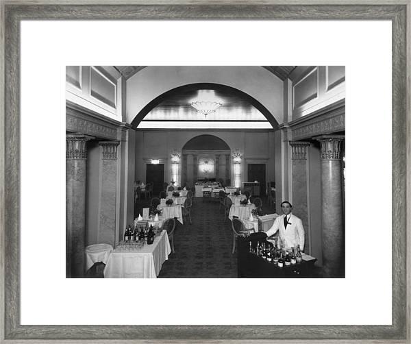 Elegant Restaurant Framed Print