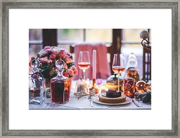 Elegant Tablewear Framed Print