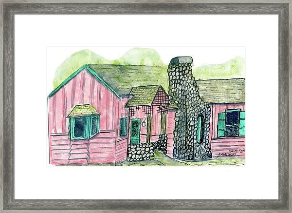 Spence Cabin In Elkmont Framed Print