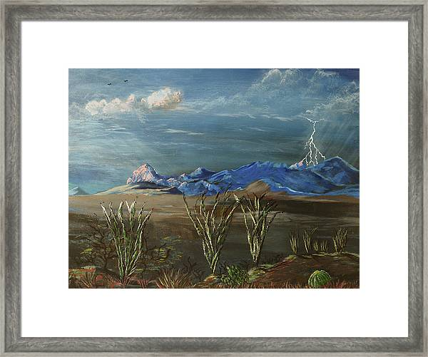 Framed Print featuring the painting Elephant Head Luminescence  by Chance Kafka