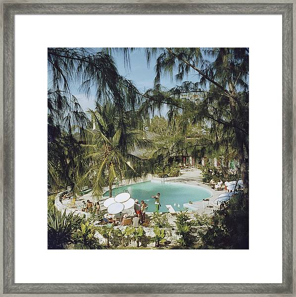 Eleuthera Pool Party Framed Print