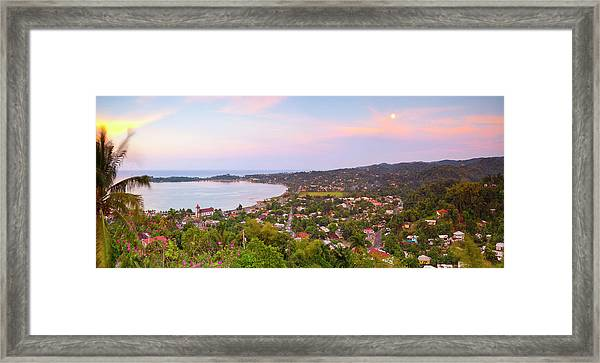 Elevated View Over Port Antonio, Jamaica Framed Print