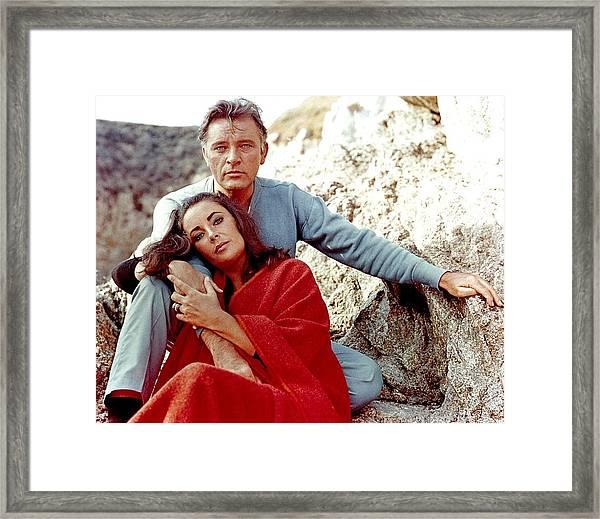 Elizabeth Taylor And Richard Burton On Framed Print