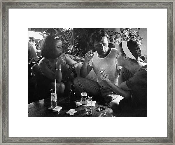 Elizabeth Taylorava Gardnerrichard Framed Print by Gjon Mili
