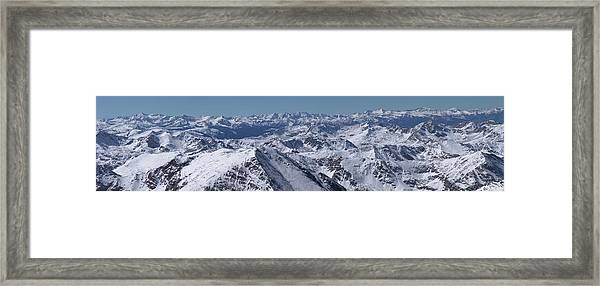 Elk Mountains Of Colorado In Late Framed Print by Photo By Matt Payne Of Durango, Colorado