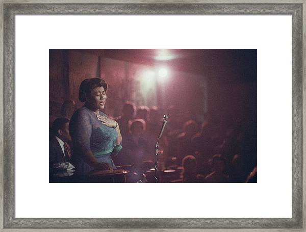 Ella Fitzgerald Performs Framed Print