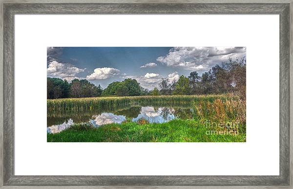 Ellis Pond Framed Print