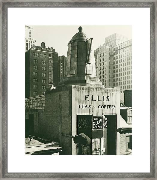 Ellis Tea And Coffee Store, 1945 Framed Print