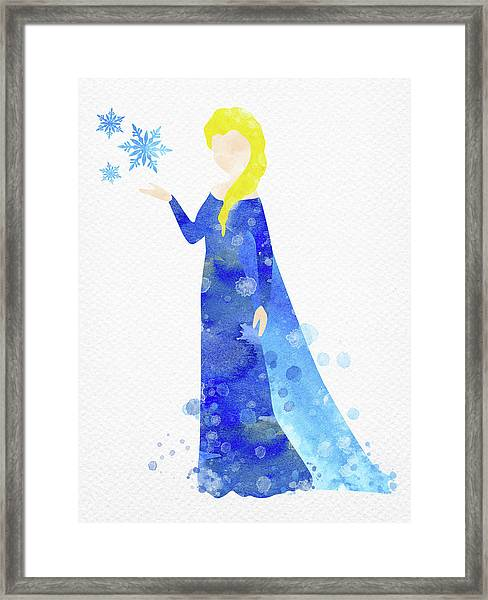 Elsa Watercolor Framed Print