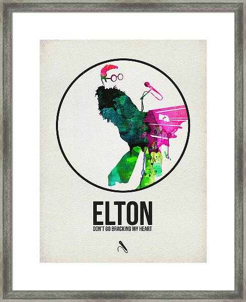 Elton Watercolor Poster Framed Print