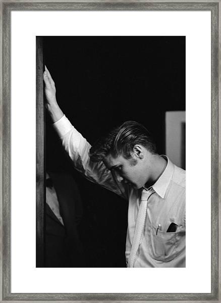 Elvis Backstage Framed Print by Robert W. Kelley