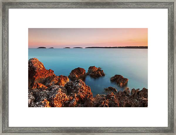 Ember And Blue Framed Print