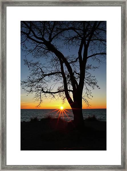 Empire Beach Sunset Framed Print