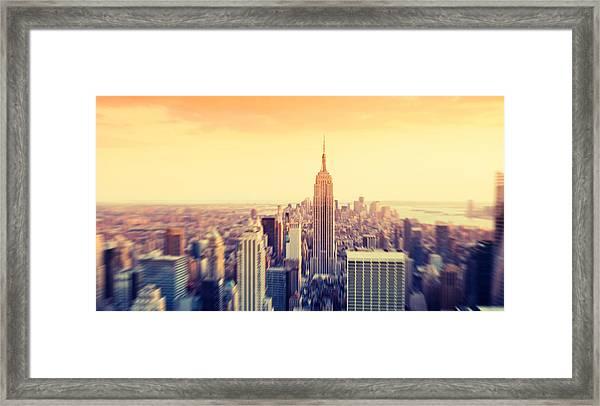 Empire State Building In Manhattan Framed Print