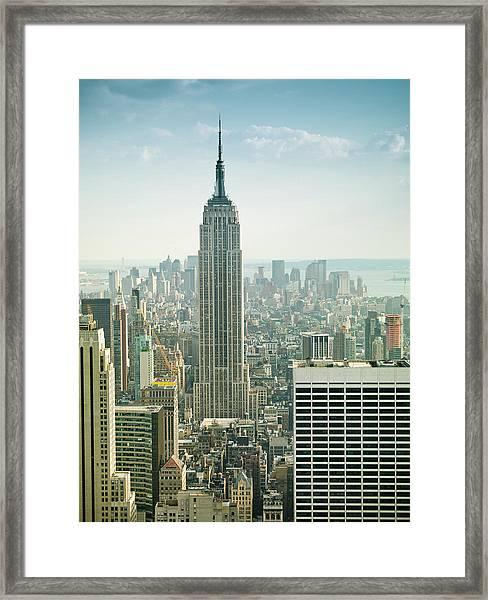 Empire State Building New York Framed Print