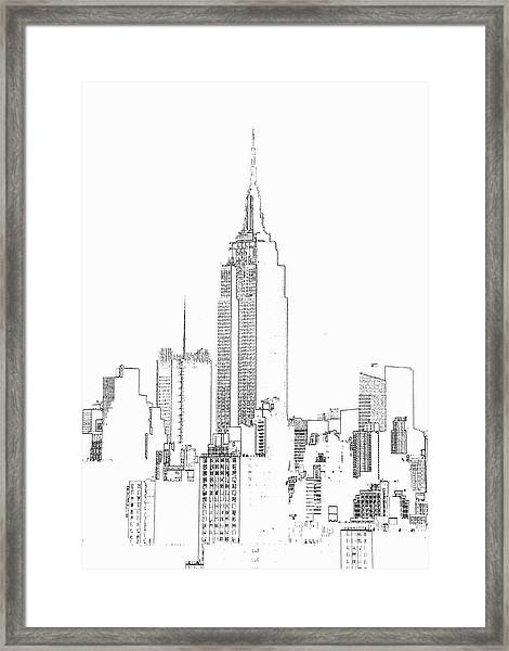 Empire State Building  Photographic Framed Print