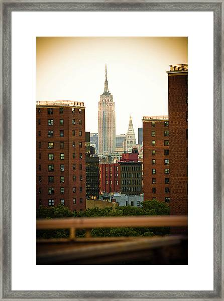 Empire State Building Viewed From Framed Print