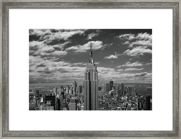 Empire State Building With Framed Print