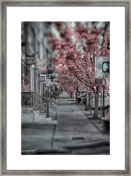 Empty Sidewalk Framed Print