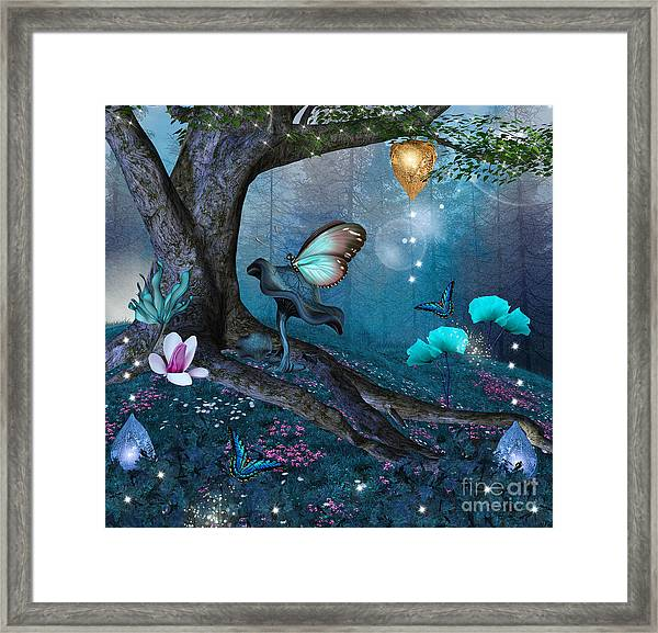 Enchanted Tree In The Middle Of The Framed Print