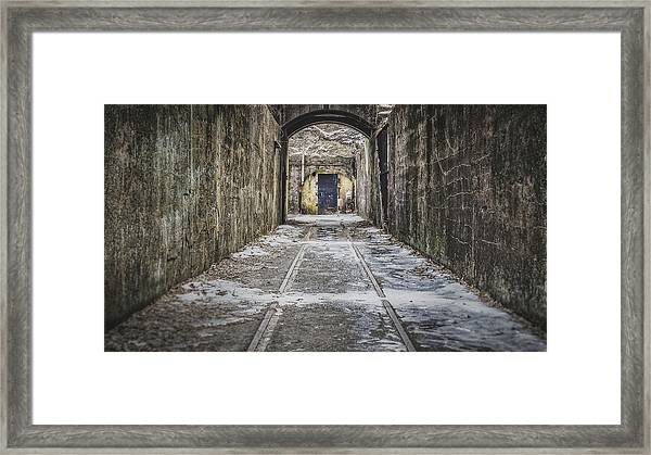 Framed Print featuring the photograph End Of The Tracks by Steve Stanger