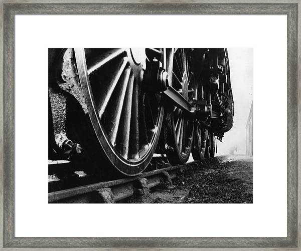 Engine Wheels Framed Print by Fox Photos