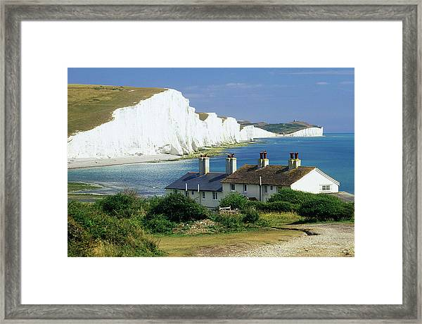 England, Sussex, Seven Sisters Cliffs Framed Print