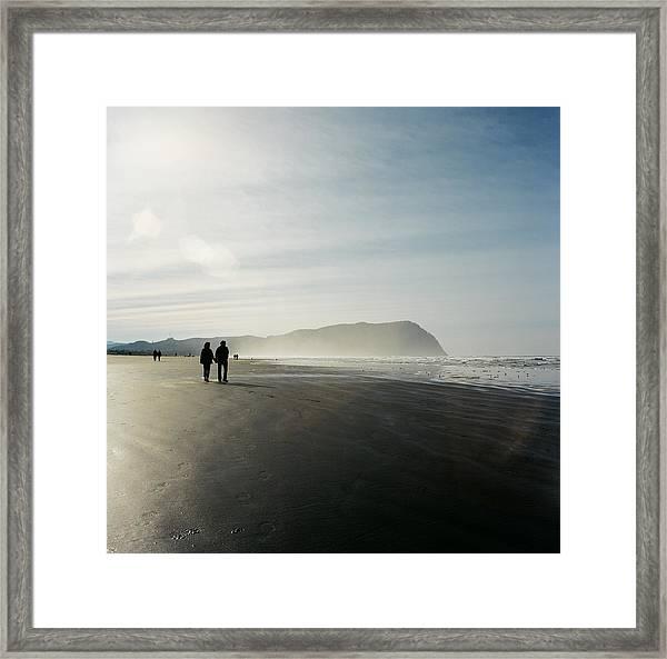 Enjoying The View At Seaside Framed Print