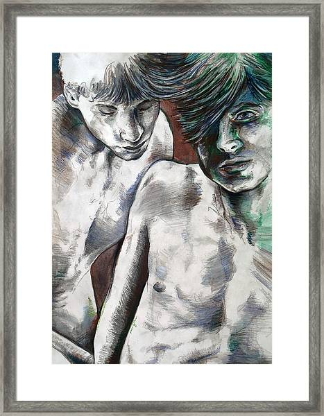 Entanged Boys Framed Print
