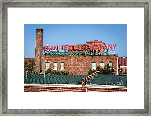 Enterprise Mill - Graniteville Company - Augusta Ga 2 Framed Print