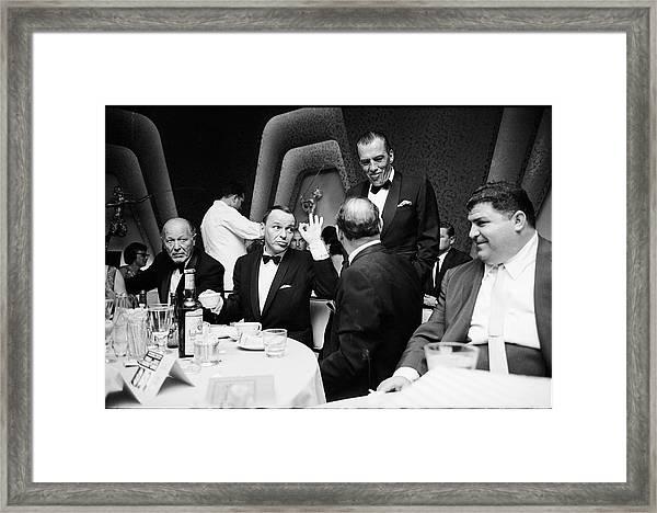 Entertainer Frank Sinatra Giving The Ok Framed Print