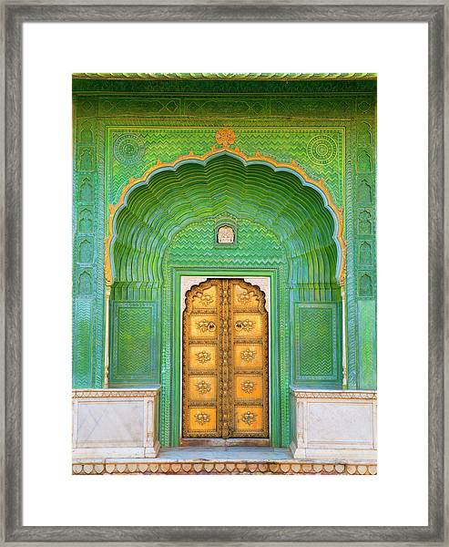 Entrance To Palace Framed Print