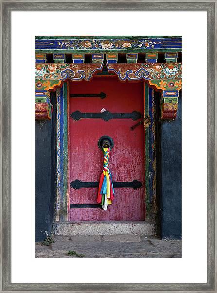 Entrance To The Tibetan Monastery Framed Print by Hanhanpeggy