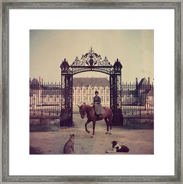 Equestrian Entrance Framed Print by Slim Aarons