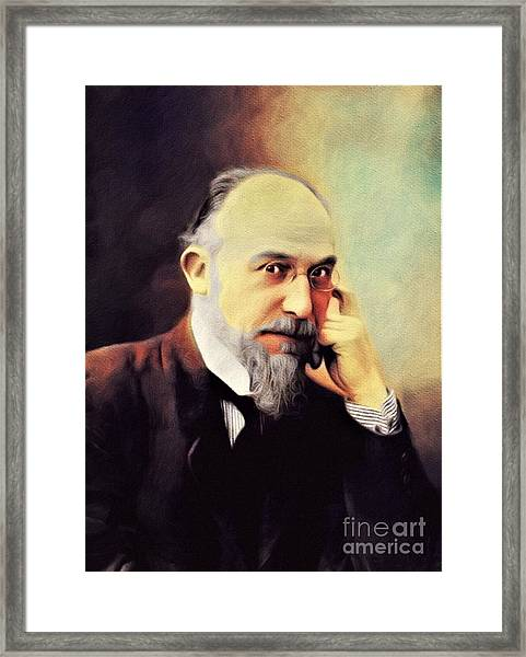 Erik Satie, Music Legend Framed Print