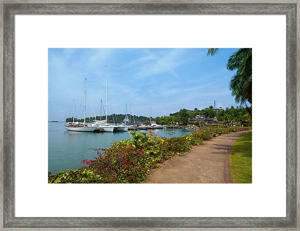 Errol Flynn Marina, Port Antonio Framed Print