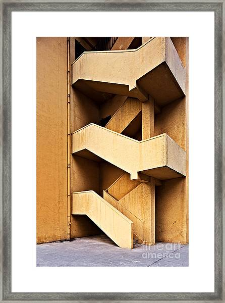 Escape On Facade Of Old Building Framed Print