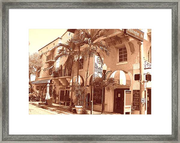 Espanola Way In Miami South Beach Framed Print