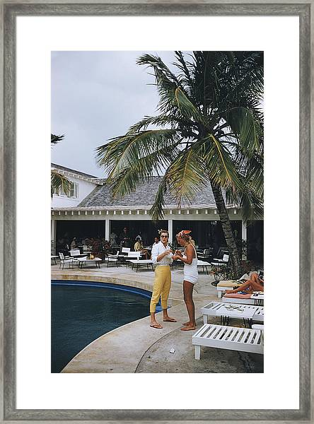 Esther Williams By The Pool Framed Print