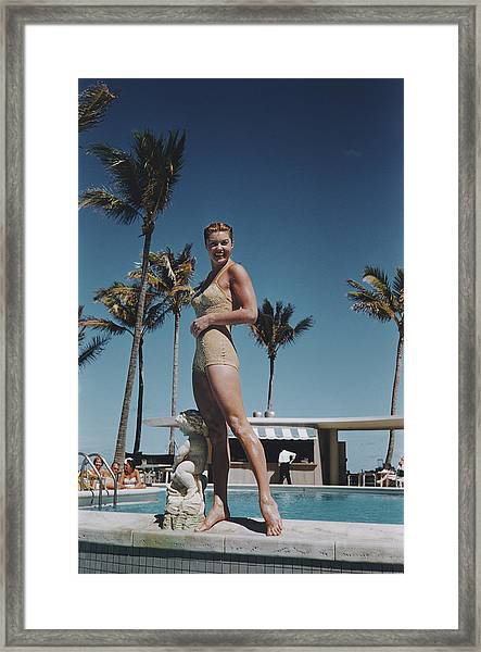 Esther Williams Framed Print by Slim Aarons
