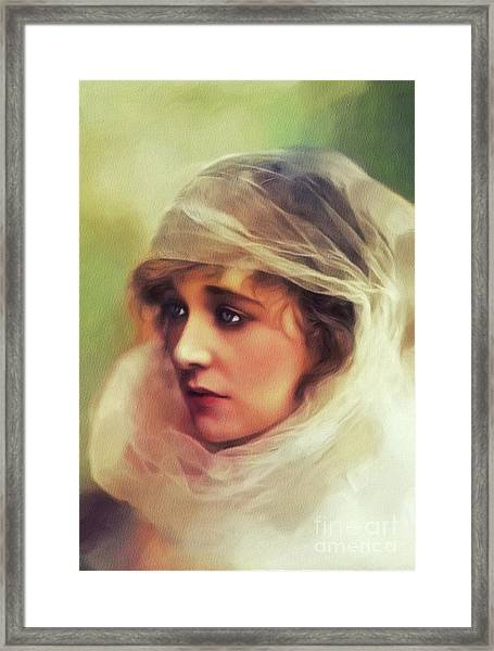 Ethel Clayton, Vintage Actress Framed Print