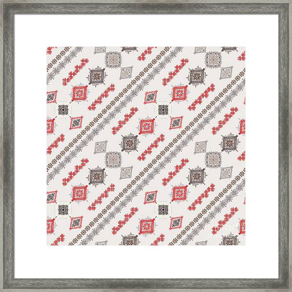 Ethno Seamless Pattern. Ethnic Boho Framed Print