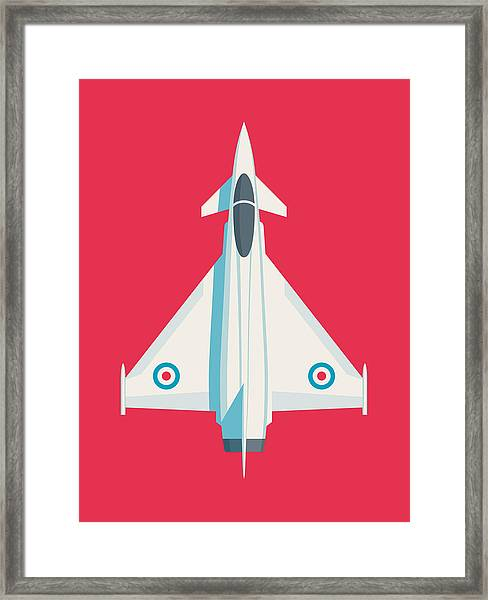 Typhoon Jet Fighter Aircraft - Crimson Framed Print